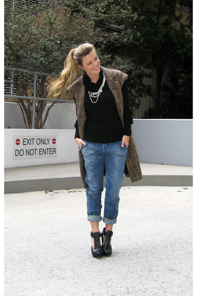 Forever 21 sweater - Diesel jeans - inspired by Michael Kors I made it coat - Ve