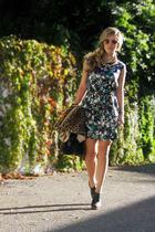 cynthia steffe dress - vintage 1960s coat - Steve Madden shoes