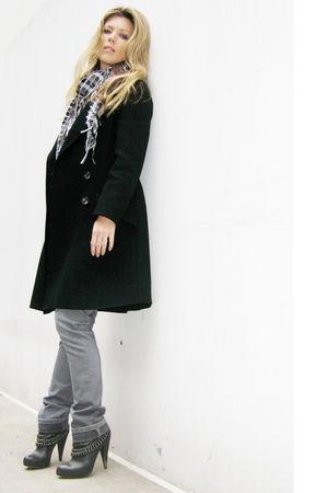 black Vintage Pea Coat coat - silver DL1961 Premium Denim gray jeans jeans - gra