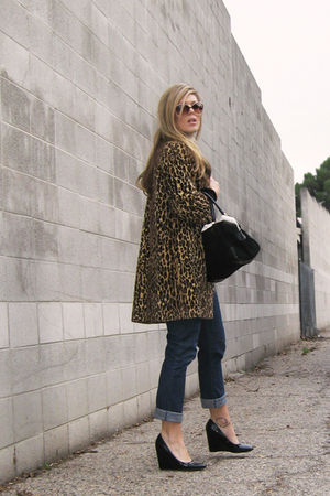 black Steven by Steve Madden shoes - brown Vintage leopard coat coat