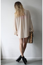 Neutral-filippa-k-dress-dark-khaki-vintage-snakeskin-bag-black-vintage-heels