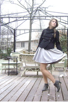 silver hm dress - gray Target boots - black Mossimo jacket