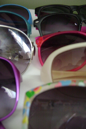 purple sunglasses - white H&M sunglasses - pink Forever 21 sunglasses - purple o