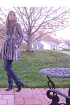 Candies coat - American Eagle jeans - Mossimo boots - American Eagle shirt - acc