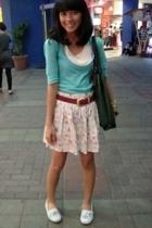 t-shirt - belt - skirt - casio accessories - Everlast shoes