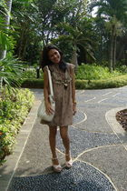 brown Gaudi dress - white Zara accessories - pink Nine West shoes