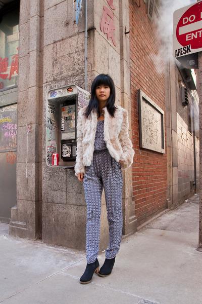faux fur Urban Outfitters jacket - Tobi jumper