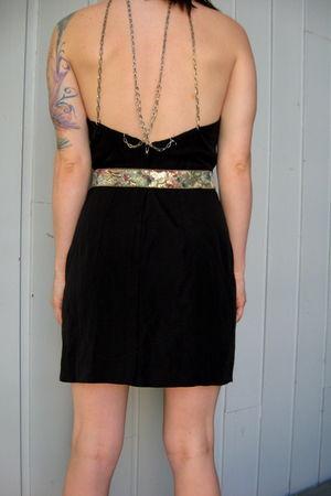 black Peachy Days Vintage dress