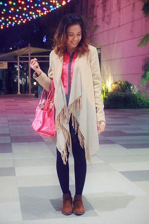 pink hamilton Michael Kors bag - brown suede Dorothy Perkins boots