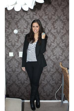 black Zara blazer - black Topshop shoes