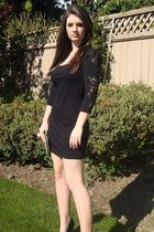 black H&M dress - black Aldo shoes