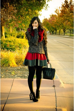 Vanity sweater - modcloth boots - StyleScan dress - daily look scarf