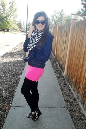JCPenney jacket - Forever 21 sweater - Forever 21 leggings - Deb Shops scarf