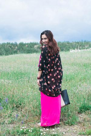 kimono Express top - maxi dress dress - tote calvin klein purse