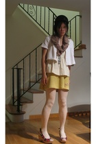 skirt - christian lacroix shoes - Express scarf - Isabel Marant top