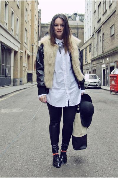 BSB jacket - Celine bag - H&M flats - new look necklace