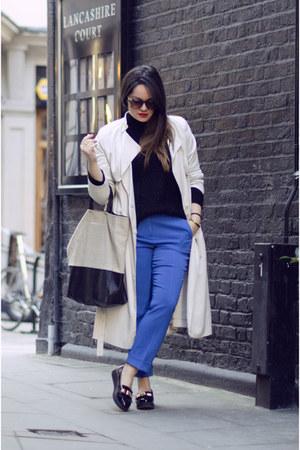 H&M coat - Celine bag - COS pants - H&M loafers - COS top