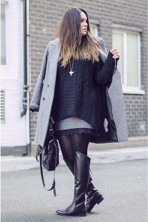 Zara boots - Zara coat - COS sweater - PROENZA SCHOULER bag - Zara skirt