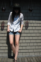 vintage shirt - H&M shorts - Old Navy shoes - Urban Outfitters hat