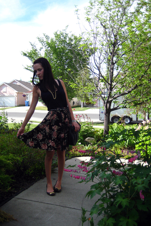 American Apparel t-shirt - Value Village skirt - sam edelman shoes - Aldo bracel