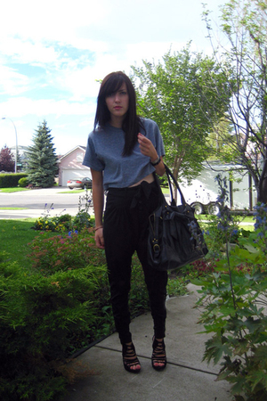 American Apparel shirt - Zara pants - Zara purse - Zara shoes - Aldo bracelet -