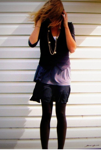 H&M vest - Zara shirt - Gap tights