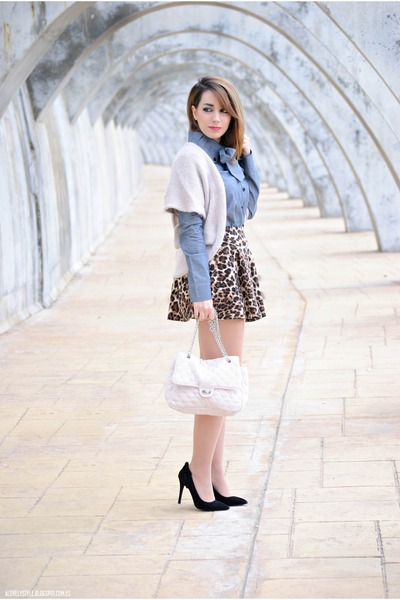 chicnova skirt - BLANCO bag - Bradamant blouse - Atmosphere heels - Kiabi vest