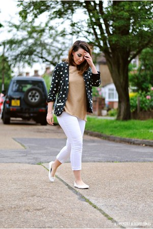 Sugarhill blazer - vjstyle top - new look pants - new look flats