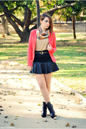 PERSUNMALL skirt - PERSUNMALL boots - clockhouse blazer - vjstyle top