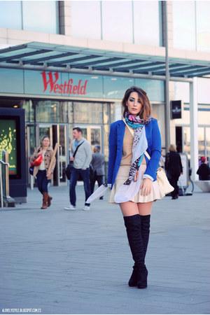 Choies skirt - chicnova blazer - PERSUNMALL scarf - JollyChic bag - new look bag