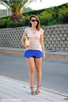 Xaro sastre bag - PERSUNMALL shorts - Marypaz wedges - romwe top