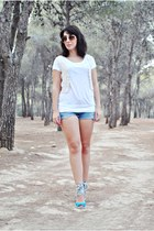 Marypaz wedges - Zara shorts - OASAP vest - Shana top