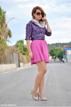 Kiabi blouse - H&M skirt - Dunnes heels