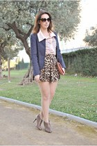 chicnova skirt - Savida boots - Kiabi jacket - OASAP shirt - Dorothy Perkins bag