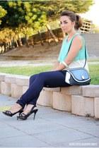 Today Ime me bag - Zara pants - Zara heels - Zanzea blouse - PERSUNMALL bracelet