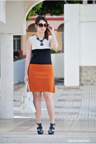 OASAP necklace - little marcel dress - BLANCO bag - Marypaz heels