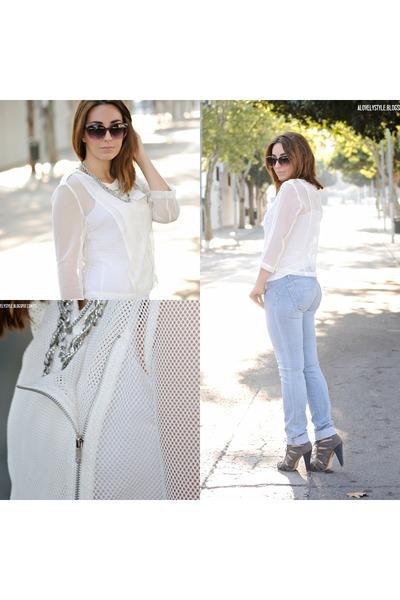 Front Row Shop jacket - salsa jeans - Marypaz heels