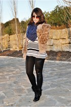 clockhouse coat - Dunnes boots - chicnova leggings - clockhouse scarf