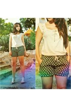 OASAP shorts - Kiabi top - BLANCO heels