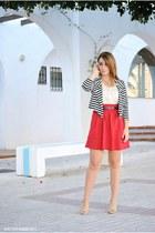 OMGFashion blazer - chicnova top - Dunnes skirt - Savida heels
