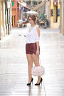 Blanco-bag-lulus-shorts-persunmall-necklace-atmosphere-heels
