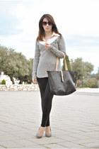 Sfera sweater - chicnova leggings - Massimo Dutti shirt - chicnova bag