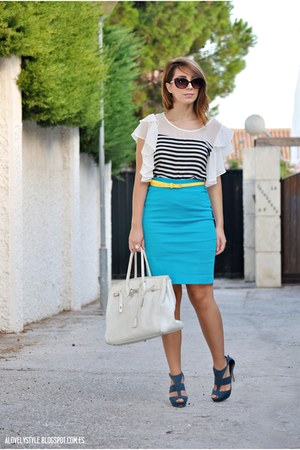 H&M skirt - BLANCO bag - Vateno belt - Marypaz heels - OASAP top