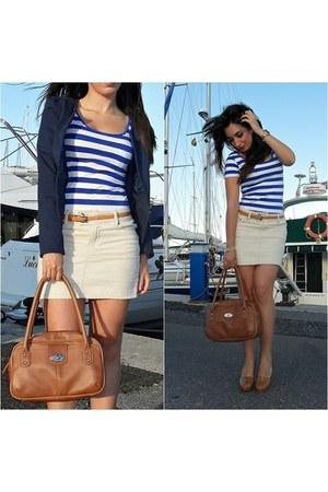 Dunnes heels - Kiabi blazer - Dunnes bag - Dunnes top - Venca skirt