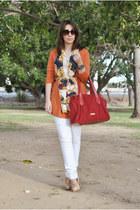 Valentino bag - Stradivarius pants - Dunnes heels - OASAP cardigan
