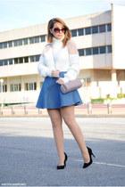 Chicwish sweater - BLANCO bag - Chicwish skirt - Atmosphere heels