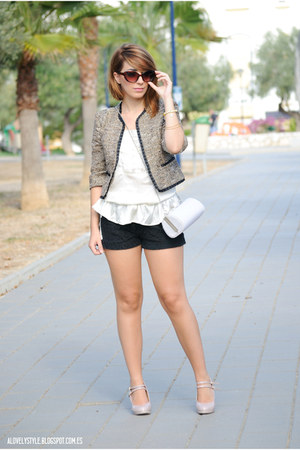 Savida jacket - BLANCO bag - Dunnes shorts - Dunnes heels - Lefties top