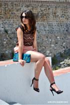 Sheinside romper - Zara heels