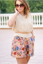 BLANCO skirt - romwe sweater - Dunnes shirt