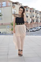 DressLink skirt - Choies dress - Zara heels